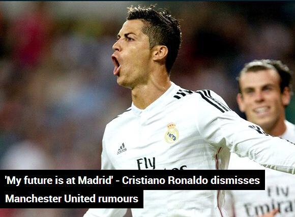 加盟曼联?C罗亲口否决:我的未来在马德里