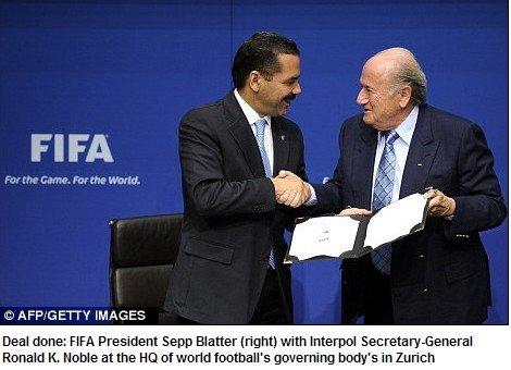 FIFA宣布合作国际刑警组织 10年投2000万打假