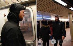 美国男子与地铁赛跑