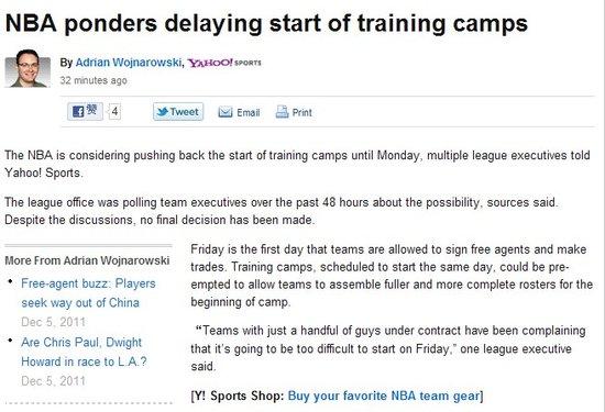 曝NBA考虑推迟训练营 只因部分球队人数不足