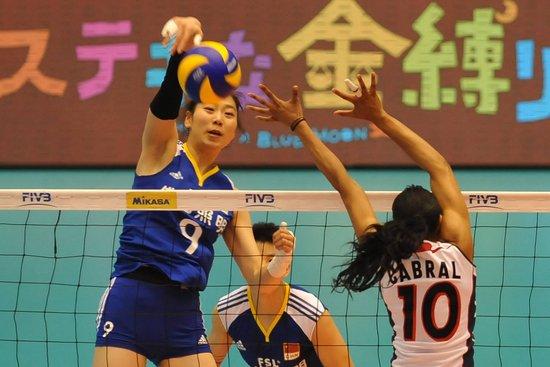 世界杯-中国女排3-1逆转多米尼加 收获第三胜