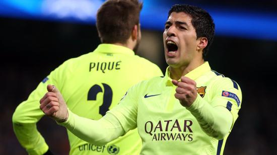 Manchester City - Barcelona: Suarez scored twice for the first time