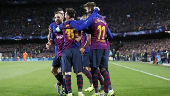 巴萨vs里昂:晋级欧冠8强(5-1)
