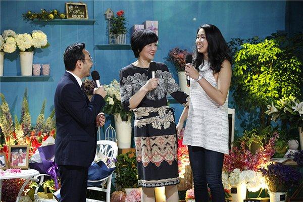 2016年9月16日,《天天向上》花絮照。汪涵、郎平与女儿
