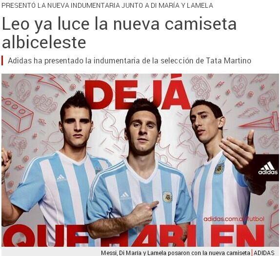 阿根廷新球衣出炉梅西领衔 3月亮相征美洲杯