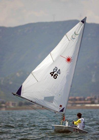 帆船赛冠军张东霜:不适应大风 向伦敦起航