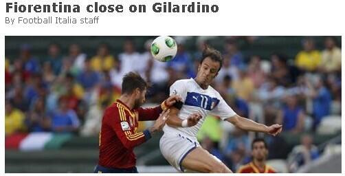 吉拉迪诺加盟佛罗伦萨达成协议 联手迪亚曼蒂