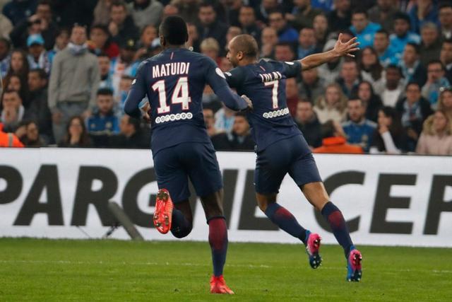 法甲-巴黎5-1胜马赛差摩纳哥3分 5将各入一球
