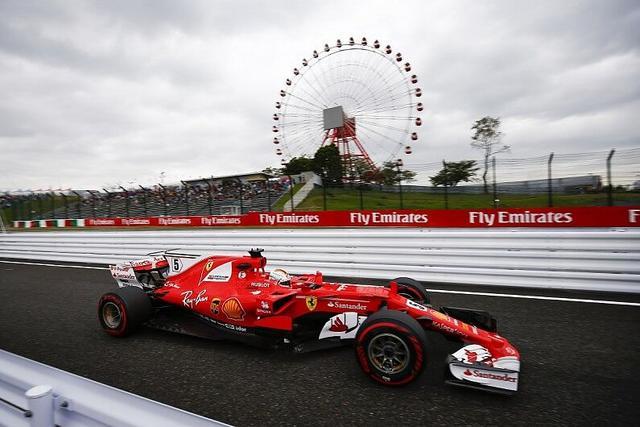 F1日本站练习赛大雨搅局 维特尔拿下最快单圈