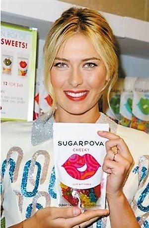 莎拉波娃温网卖糖遭批 糖果卖到男球员更衣室