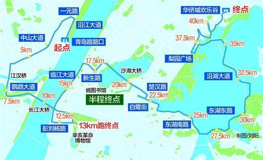 2017武汉马拉松路线图-武汉马拉松一个月倒计时 揭秘别样的五 新图片