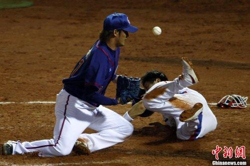 亚运会棒球:B组中华台北不敌韩国