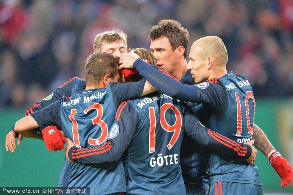 全场集锦:汉堡0-5拜仁 曼朱基奇帽子戏法截图