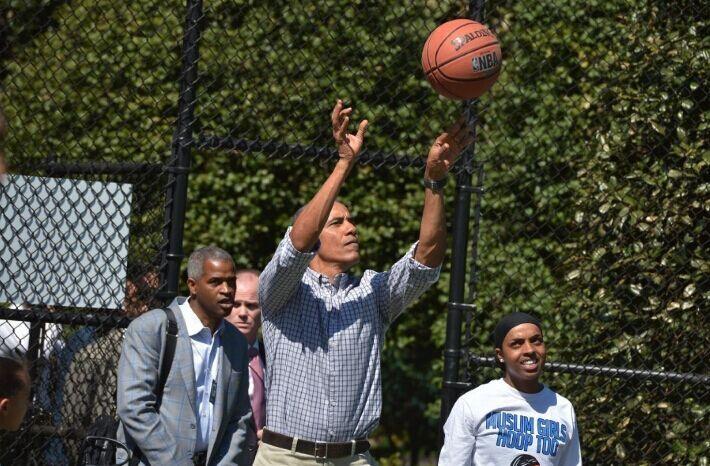 奇才五星与奥巴马打篮球 总统向真理喷垃圾话