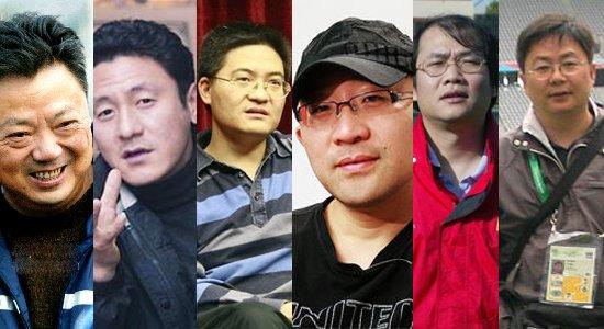 左起:余东风、马明宇、许绍连