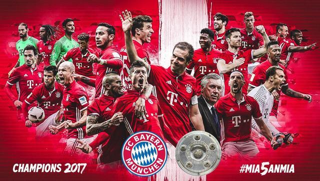 德甲-拜仁6-0提前3轮获5连冠 莱万登顶射手榜