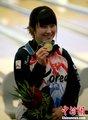图文:保龄球女子单人赛韩国运动员夺冠