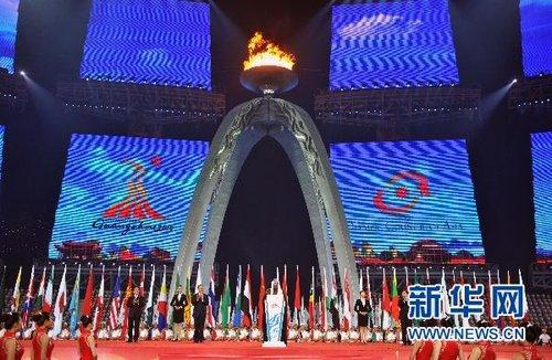 第十六届亚洲运动会在广州圆满闭幕