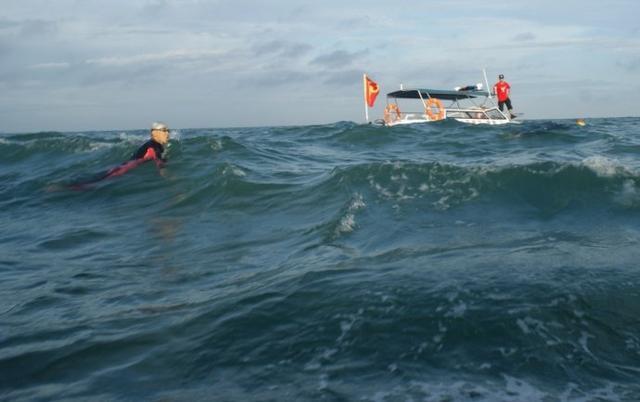 12岁男孩回应成功横渡琼州海峡