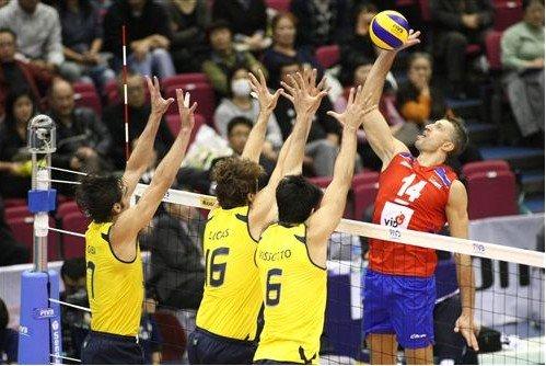 美国胜日本单局39-37高分 巴西男排爆冷输球