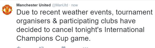 曼彻斯特德比因天气原因取消 球迷空欢喜一场