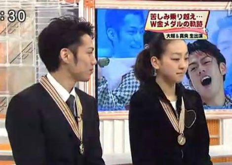 浅田真央和高桥大辅一起参加活动