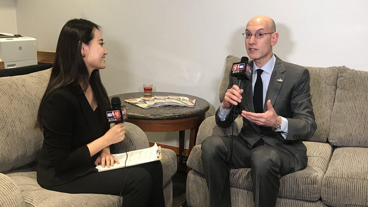 萧华接受腾讯体育专访,对与腾讯的合作赞不绝口