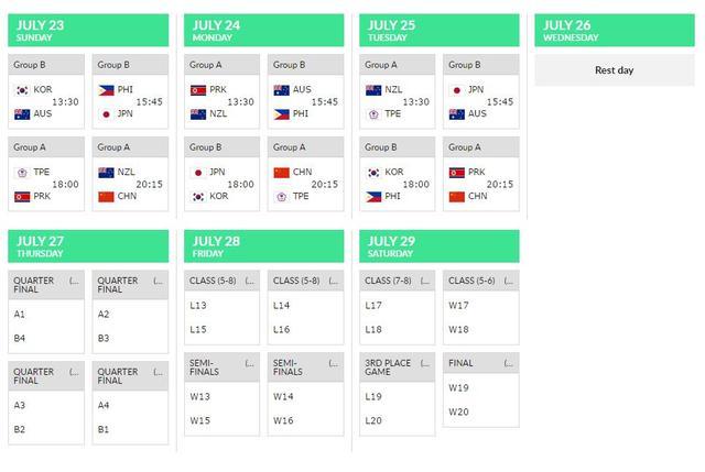 女篮亚洲杯赛程公布:中国女篮首战迎新西兰