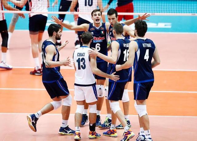 男排大冠军杯意大利3-1美国