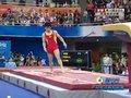 视频:体操男子跳马决赛 冯喆第一跳落地小失误