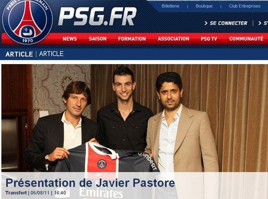 法甲曼城宣布帕斯托雷加盟 4200万仅次阿奎罗