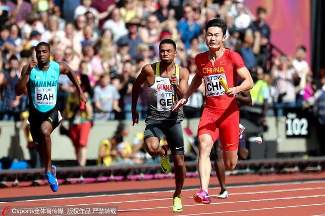 男子接力预赛博尔特出战 中国队38秒20晋级决赛