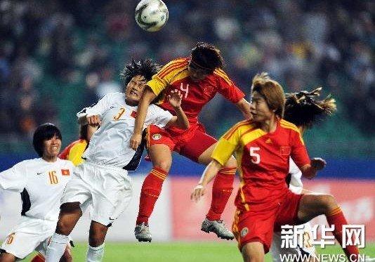 亚运-中国女足终场绝杀1-0越南 提前晋级四强