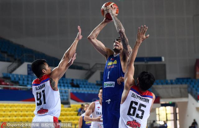 篮球亚冠-菲律宾联10分胜泰国吸血鬼 夺第5名