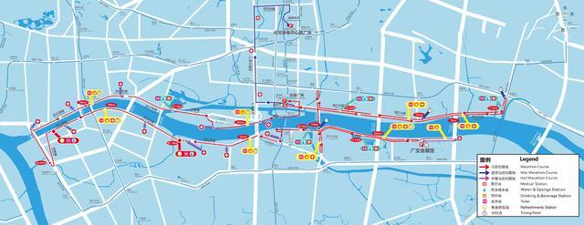 2015广州马拉松赛路线图-广州马拉松将开跑 组委会提醒参赛者量力而图片