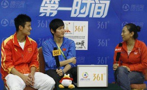 鲍春来谌龙:中国太强大 队友包办夺金很开心
