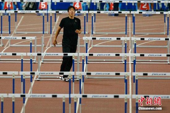 刘翔赛后直奔冬日那接受采访 称决赛跑13秒20