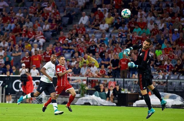 奥迪杯-拜仁0-3利物浦 马内萨拉赫斯图里奇破门