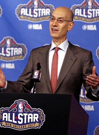 萧华在全明星赛新闻发布会上畅谈NBA未来