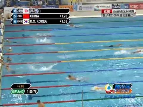 视频:男子4x100米混合泳接力 中国痛失金牌