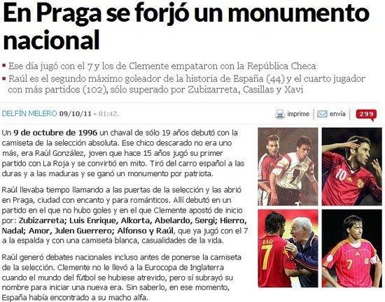 劳尔国家队首秀15周年 西班牙欠他一尊世界杯