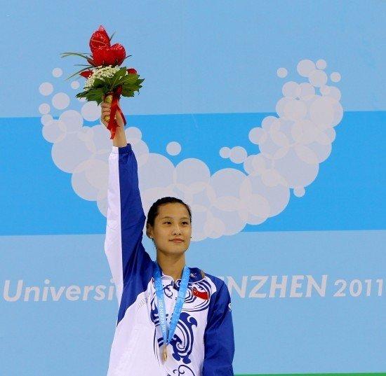 女50米蝶陆滢夺冠 中国游泳获近三届大运首金