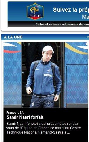 纳斯里因膝伤退出法国集训队 恐无缘战阿森纳
