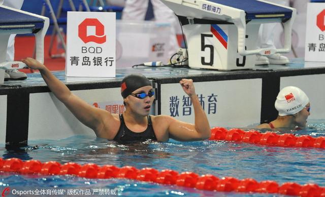 冠军赛50仰傅园慧压刘湘夺冠 汪顺破全国纪录