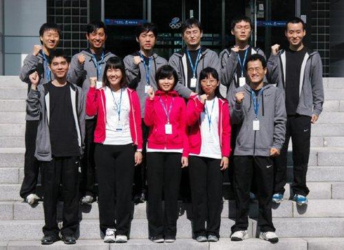韩国亚运围棋队进驻选手村 李世石李昌镐同室