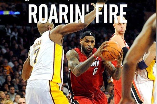 ESPN:皇帝三双热火烤湖人 圣诞战他再赢科比