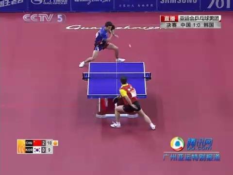 视频:马琳兵不血刃拿下第三局 中国队2-0领先韩国