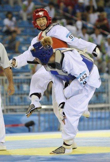 跆拳道女子67公斤级决赛 中国名将郭耘菲夺金