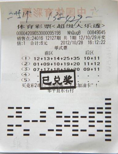 彩民守号3月中大乐透13万 奖金将用于购新车