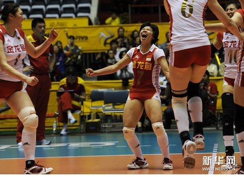 高清:世锦赛中国女排破日本不败金身 赢复赛开门红